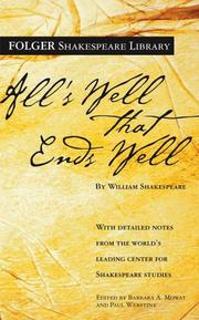 Cover of: All's Well That Ends Well by William Shakespeare, Paul Werstine