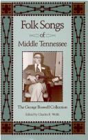 Cover of: Folk Songs of Middle Tennessee