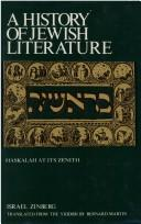 Cover of: Hasidism and enlightenment (1780-1820) | Israel Zinberg