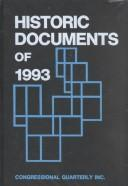 Cover of: Historic Documents of 1993 |