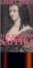Cover of: Aphra Behn: The English Sappho