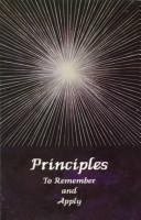 Cover of: Principles to Remember and Apply | Maile