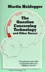 Cover of: The question concerning technology, and other essays