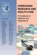 Cover of: Operations Research and Health Care