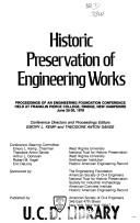 Cover of: Historic preservation of engineering works
