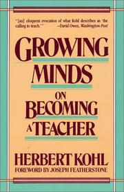 Cover of: Growing Minds | Herbert R. Kohl