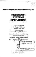 Cover of: Reservoir Systems Operations