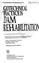 Cover of: Geotechnical Practice in Dam Rehabilitation
