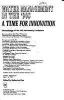 Cover of: Water Management in the '90s: A Time for Innovation