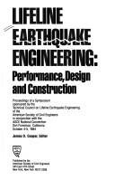 Cover of: Lifeline Earthquake Engineering