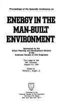 Cover of: Energy in the Manbuilt Environment