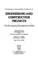 Cover of: Engineering and Construction Projects