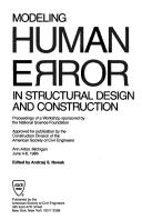 Cover of: Modeling human error in structural design and construction |
