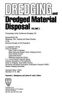 Cover of: Dredging and Dredged Material Disposal, Two Volume Set