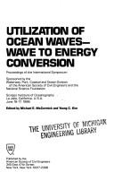 Cover of: Utilization of Ocean Waves | Michael E. McCormick