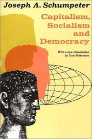 Cover of: Capitalism, Socialism, and Democracy