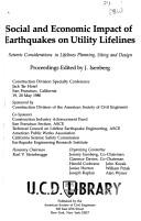 Cover of: Social and Economic Impact of Earthquakes on Utility Lifelines