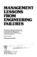 Cover of: Management Lessons from Engineering Failures