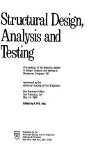 Cover of: Structural Design, Analysis and Testing