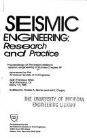Cover of: Seismic Engineering Research and Practice