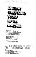 Cover of: Energy Solutions Today for the Nineties