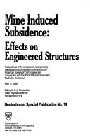 Cover of: Mine Induced Subsidence: Effects on Engineered Structures