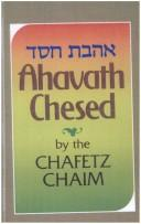 Cover of: Ahavath Chesed