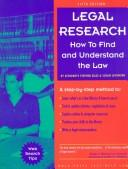 Cover of: Legal Research | Stephen Elias, Susan Levinkind