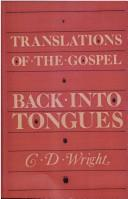 Cover of: Translations of the Gospel Back into Tongues
