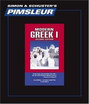 Cover of: Greek I |