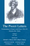 Cover of: The Piozzi Letters: Correspondence of Hester Lynch Piozzi, 1784-1821 (Formerly Mrs. Thrale) : 1817-1821 (Piozzi Letters)