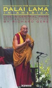 Cover of: The Dalai Lama in America