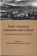 Cover of: Early American Literature and Culture | Kathryn Zabelle Derounian-Stodola