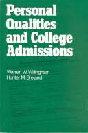 Cover of: Personal qualities and college admissions