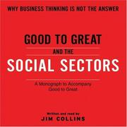 Cover of: Good To Great And The Social Sectors Unabr CD
