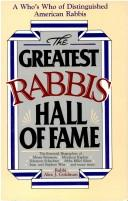 Cover of: The Greatest Rabbis Hall of Fame | Alex J. Goldman