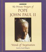 Cover of: The Pope's Private Prayer Book: Words of Inspiration from Pope John Paul II