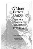Cover of: A More Perfect Union | Michael Sherman