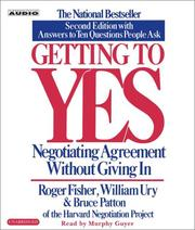 Cover of: Getting to Yes | Roger Drummer Fisher