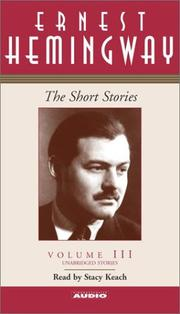 Cover of: The Short Stories Volume III
