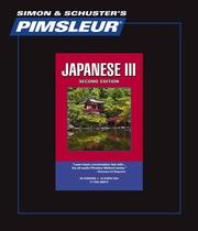 Cover of: Japanese III - 2nd Ed. | Pimsleur