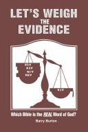 Cover of: Let's Weigh the Evidence