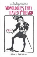 Cover of: Shakespeare's monologues they haven't heard | William Shakespeare