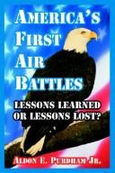 Cover of: America's First Air Battles