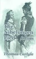 Cover of: The  Nibelungen Lied: an essay