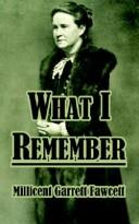 Cover of: What I Remember