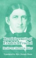 Cover of: Reminiscences Of Friedrich Froebel