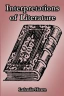 Cover of: Interpretations of literature