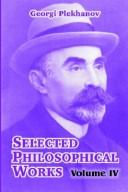 Cover of: Selected Philosophical Works, Vol. 4