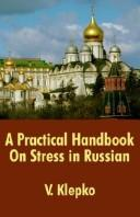 A practical handbook on stress in Russian by V. Klepko